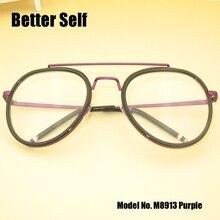 Better Self M8913 Prescription Myopia Glasses Women Optical Clear Frames Metal Pilot Eyeglasses