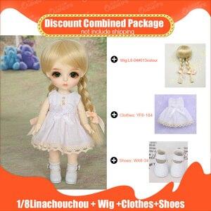 BJD SD lalki 1/8 pełny zestaw z peruką piękne ubrania buty moda żywica rysunek zabawki Oueneifs