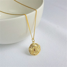 Fengxiaoling New Faqshion 925 Sterling Silver Personality Lantern Pendant Necklaces For Women Round Sign Statement Necklace