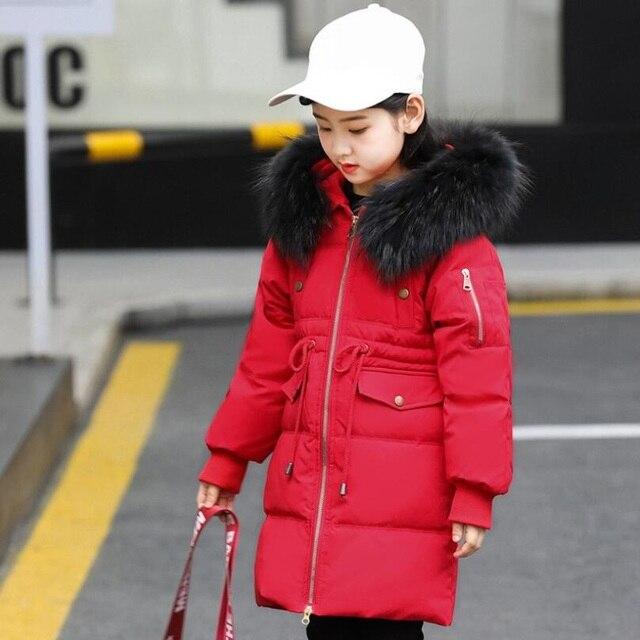 d7f9f5a2d 2018 Snowsuit Winter Big Boys Girls Duck Down Jackets Coat Kids Baby ...