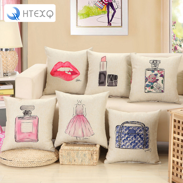 chair covers wish office neck support luxury morden stylish simplicity as you cotton linen sofa couch throw pillowcase logo cushion cover