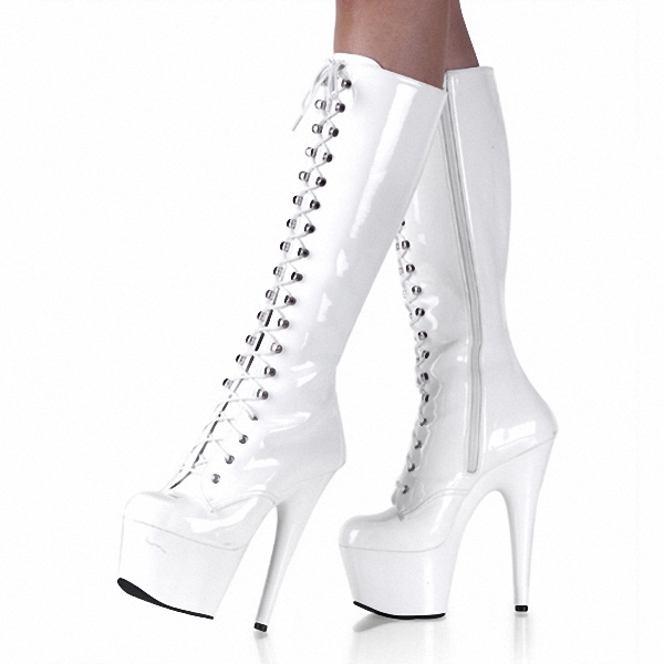 ФОТО sexy clubbing pole dancing Knee High Boots 6 inch high heel shoes winter fashion sexy warm long 15cm zip Platform women boots