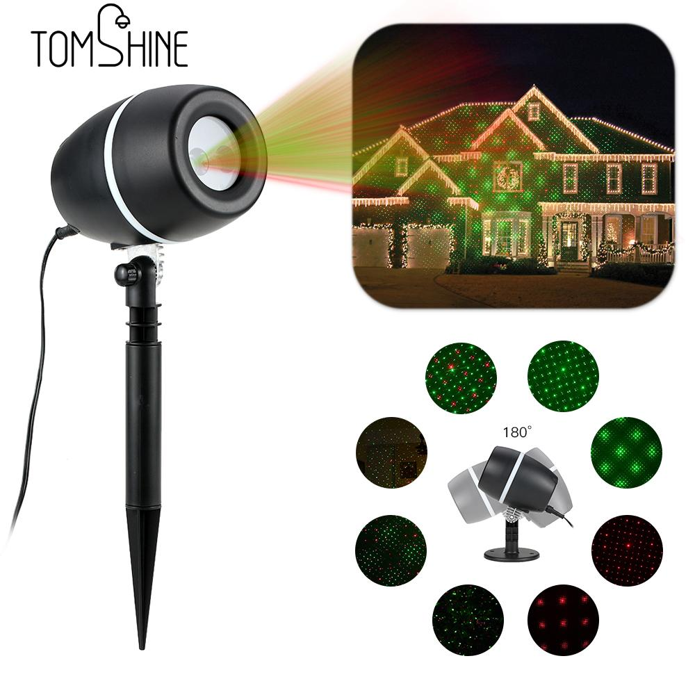 Tomshine LED Projector Lawn Lamp Light Starry Sky Christmas Spotlight Water resistant Party Festival Decoration Home