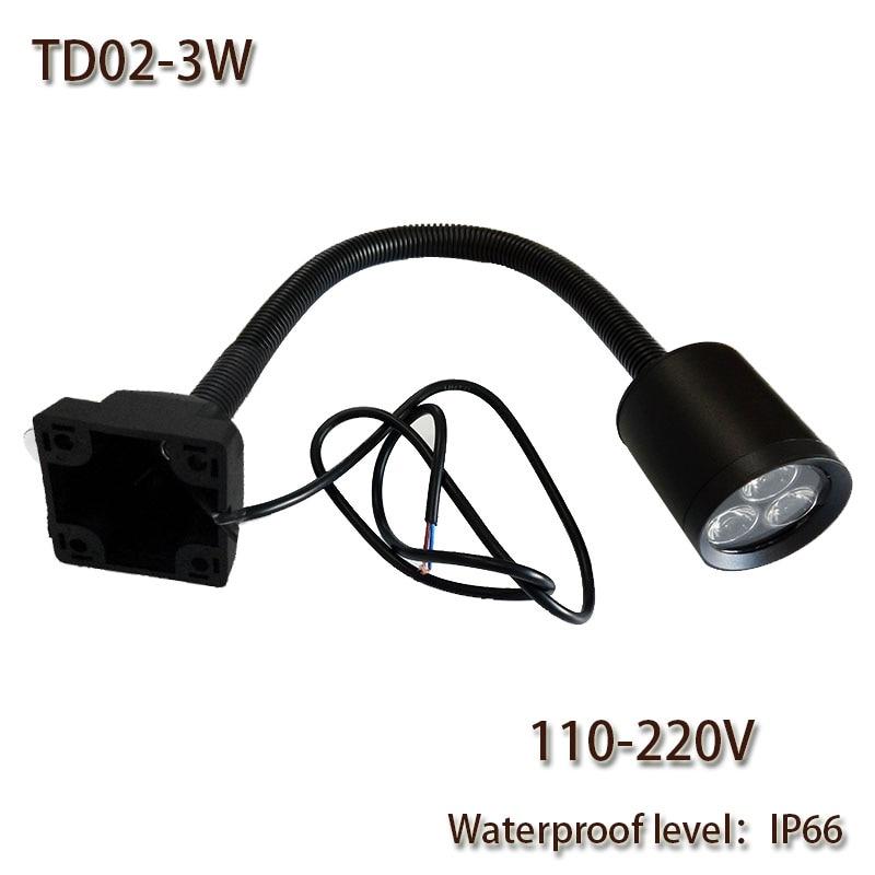 Arlec Led Puck Light Kit: HNTD 3W 110V/220V AC LED Soft Rod Lamp 4 Screw Fixation