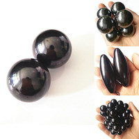 Ellipsoid Health Care Ferrite Magnet Balls Olive Shape Shinny Spheres 36 40 60 75mm Large Ceramic Jewlery Ball Permanent Magnets