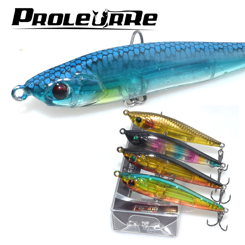 Proleurre 1Pcs 6.5CM 7.5G Sinking Minnow Fishing Lures Japan Pencil Wobbler Model Hard Baits Good Laser Snake Head Fish Lure