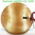 Funssor 240 мм 12 в 120 Вт круглая Полиимидная Пленка нагреватель кровать NTC3950 Термистор для DIY Delta/Kossel 3D принтер