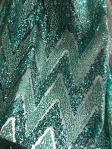 Image 3 - Модная африканская кружевная ткань для сексуального платья, нигерийская кружевная ткань, блестящая ткань