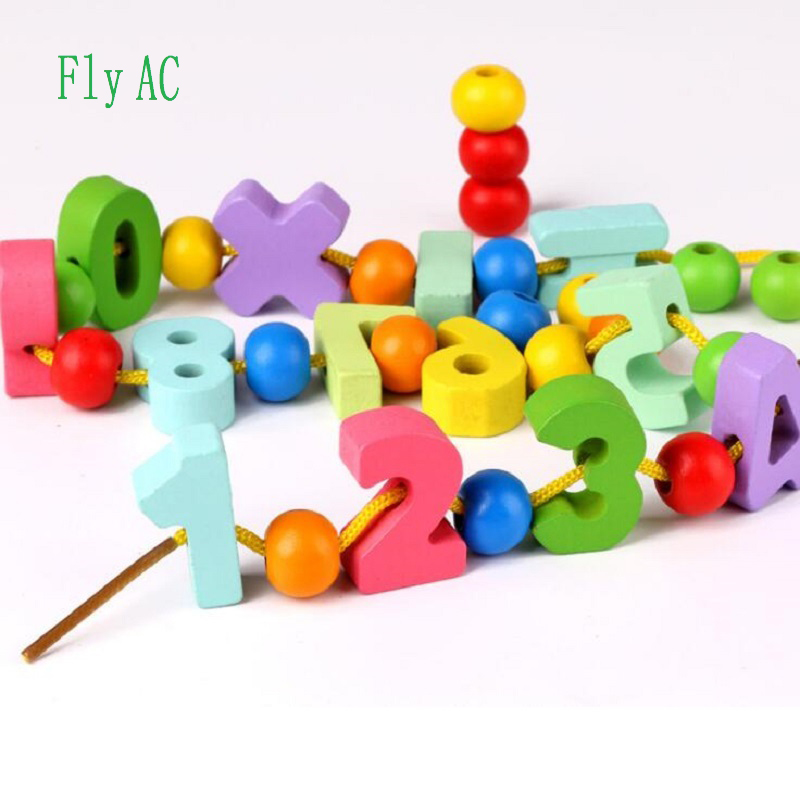 Glorious Fly Ac Montessori Learning Education Wooden Digital Beaded Toys Educational Toy For Children Birthday Gift