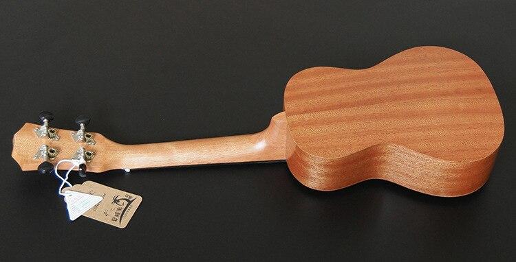SevenAngel acoustique électrique ukulélé 23 pouces hawaïen Mini guitare 4 cordes Ukelele sapele étoile lune partten avec pick-up EQ - 5