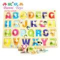 Candice guo! Danni placa quebra-cabeça ABC brinquedos educativos de madeira brinquedo de aprendizagem de inglês