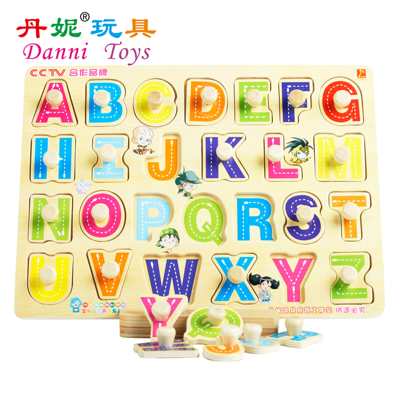Abc Learning Toys : Candice guo hot sale danni toys abc puzzle board