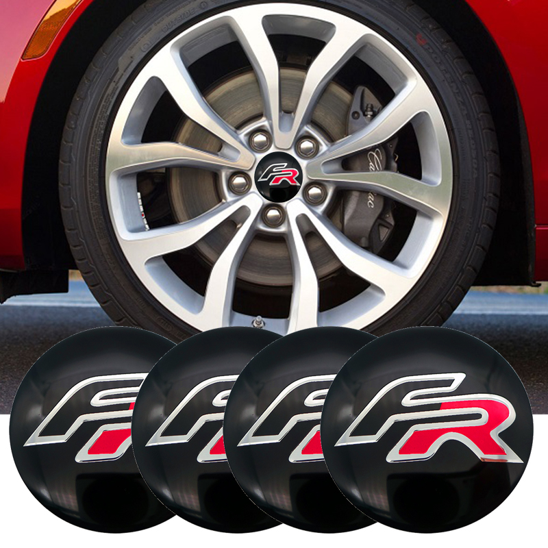 4pcs FR Formula Racing <font><b>Car</b></font> logo 56mm <font><b>Wheel</b></font> center Hub Cap <font><b>Car</b></font> Emblem sticker for BMW <font><b>SEAT</b></font> Ibiza <font><b>Leon</b></font> <font><b>Altea</b></font> ABARTH <font><b>Car</b></font> Styling image