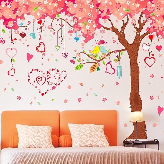aliexpress : buy large 360*200cm big size wall sticker pink