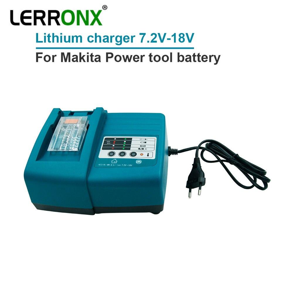 LERRONX 14.4 V 18 V Li ion chargeur de batterie de remplacement pour Makita batterie d'outils électriques sans fil BL1815 BL1840 BL1415 BL1430 BL1860