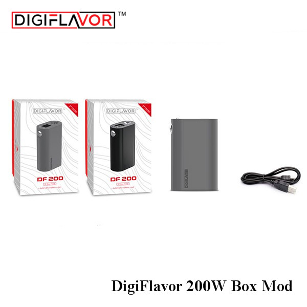 Original Digiflavor DF 200 Box MOD VW/TC Mod for Digiflavor Siren/Pharaoh 25 Dripper Tank Atomizer Electronic Cigarette Vape Mod original electronic cigarette mod vape pen smoant charon 218w tc box mod mechanical mod leather cover free shipping