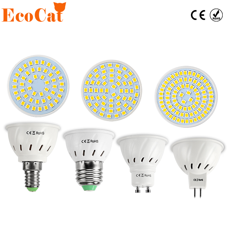 LED Lamp E27 220V 5730 5050 SMD 2835 Ampoule LED Spotlight GU10 Bombillas LED Bulb E27 MR16 Spot light Candle Luz MR16 Lampada цена