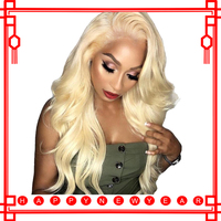 613 Blonde Lace Front Wig 360 Lace Frontal Wig Full End Body Wave Honey Blonde Colored Human Hair Wigs For Women Black 180% Remy
