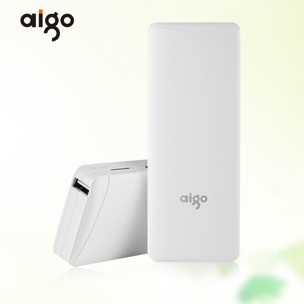 Aigo D12 10000mAh Power Bank Mobile Phone Fast Charger Portable External Battery Poverbank for Xiaomi MI for Samsung S8 S8plus