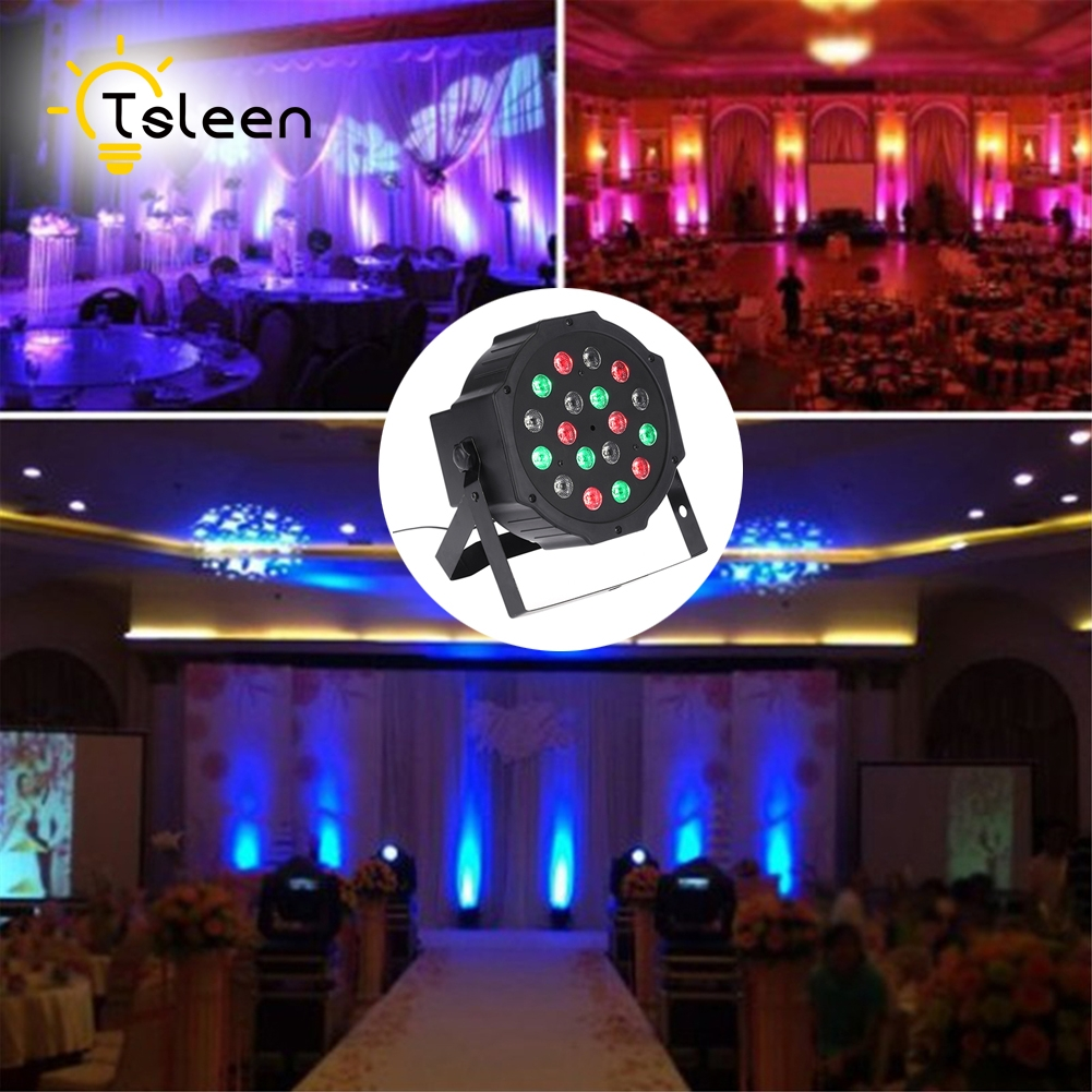 TSLEEN Led Stage Lights 18 Led DMX512 Disco Laser RGB Effect Light Party Christmas Xmas Laser Projector Lamp Outdoor DJ Disco niugul dmx stage light mini 10w led spot moving head light led patterns lamp dj disco lighting 10w led gobo lights chandelier