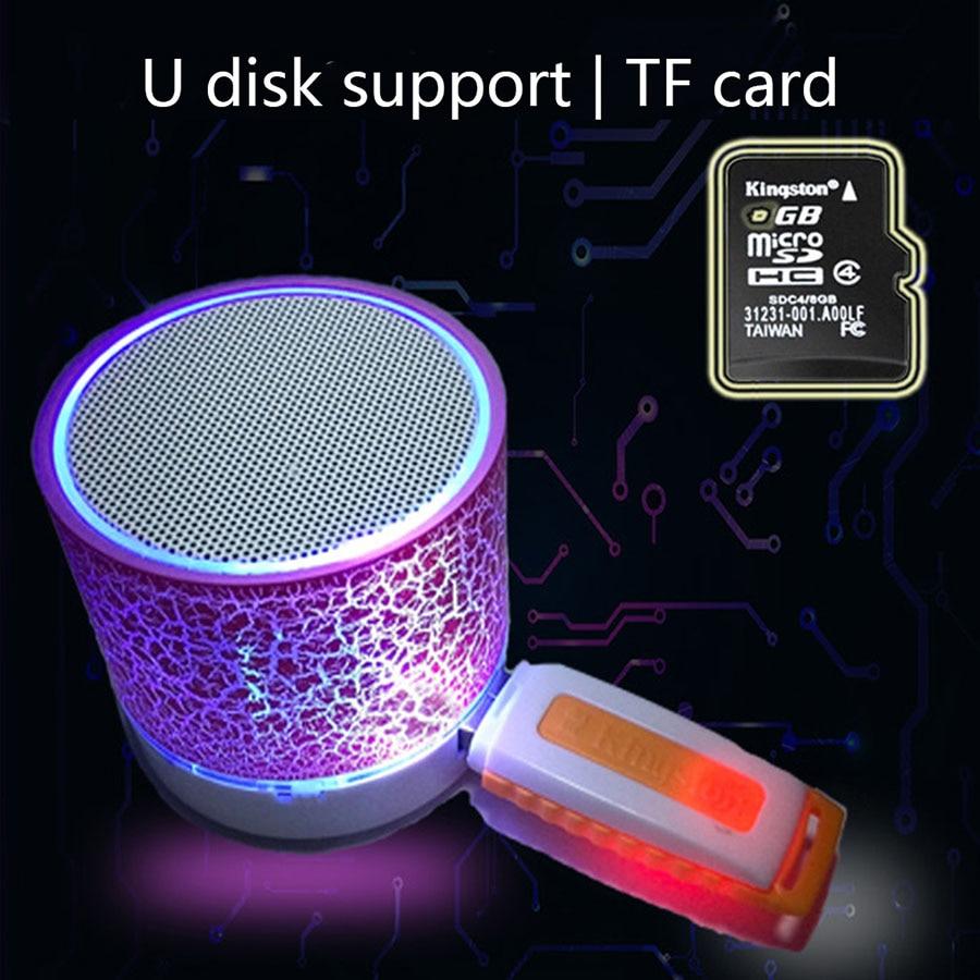 Colonne Mini Bluetooth Haut-Parleur Sans Fil LED Stéréo Sound Music Haut-parleurs TF USB FM Haut-parleurs à La Main Appel gratuit Pour iPhone 6 Téléphone