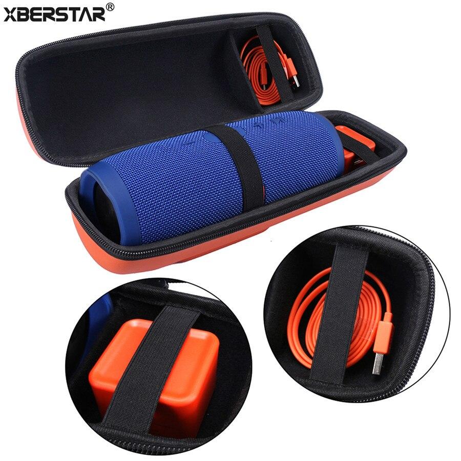 imágenes para Carry viajes Almacenamiento PU Duro Caso Bolsa Bolsa para JBL Cobran 3 Charge3 Inalámbrica Bluetooth Altavoz y Cargador