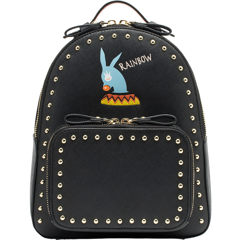 все цены на LOEIL Small shoulder bag female mini 2018 new student bag rivet Korean version of the tide fashion backpack travel bag онлайн