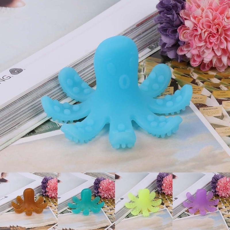 Baby Teether Soft Silicone Kids Octopus Craft Nursing Chewing Bite Bite Happy Lifelike Toys Infant Bathing Toys