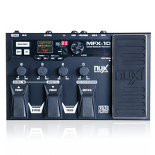 NUX MFX-10 Multi-Effects Processor гитарная педаль, 55 типов эффектов, aux-in, lcd DisplayDrum recorder 55 Effect 72 предустановки