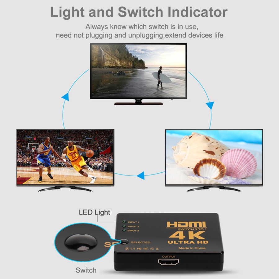 مقسم الوصلات البينية متعددة الوسائط وعالية الوضوح (HDMI) 3 ميناء 1.4 HDMI التبديل الجلاد 4K محول HDMI موسع 3 الإدخال 1 الناتج ل XBOX PS3 PS4 العارض الروبوت HDTV