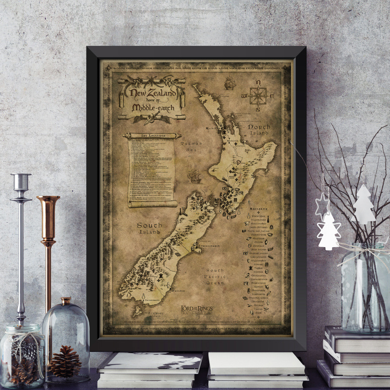 New Zealand mysterious old map  living room Frame painting  kraft paper    bar  Compare Prices on Framed Map  Online Shopping Buy Low Price Framed  . Framed Pictures For Living Room. Home Design Ideas