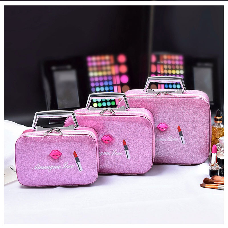 Cosmetic Bag Case For Make Up S/M/L Professional Cosmetics Pouch Bags Beauty Case For Makeup Artist Travel Storage Box Bag