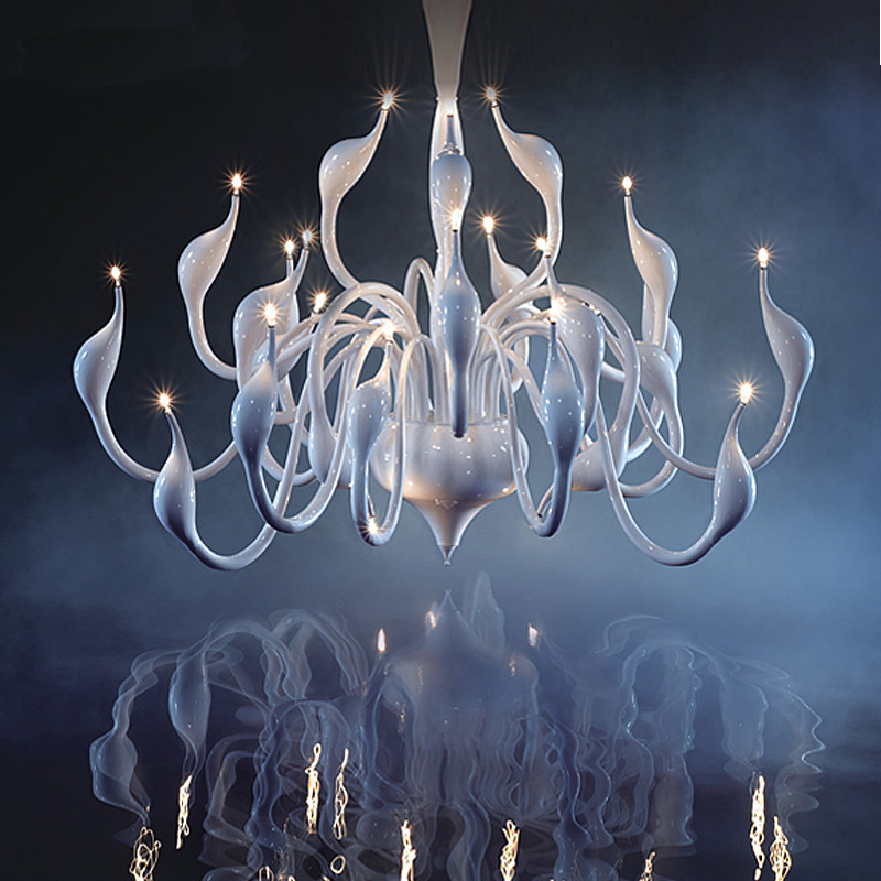 Art Deco European Candle Crystal LED Swan Chandeliers Ceiling Bedroom Living Room Modern Decoration G4 Lighting Free Shipping modern crystal chandelier hanging lighting birdcage chandeliers light for living room bedroom dining room restaurant decoration