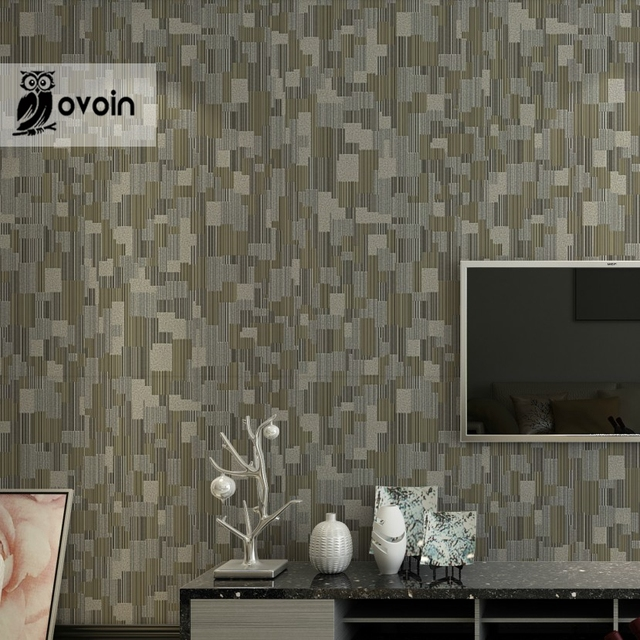 Striped Textured Modern Geometric Wallpaper Simple Embossed Vinyl Wall  Paper For Walls U0026 Bathroom