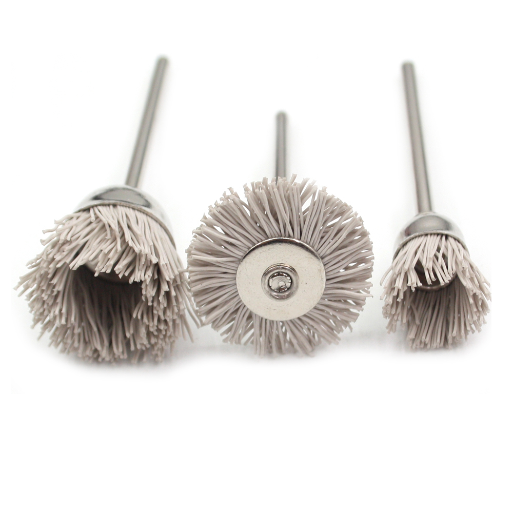 Dunpont Fiber Brush Nylon Polishing Disc Dunpont Mop Wheel Polishing Roller Shank 3mm For Electric Grinder