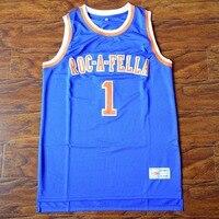 MM MASMIG Jay Z S. Carter 1 Roc-un-gars de Basket-Ball Jersey Piqué Bleu S M L XL XXL XXXL