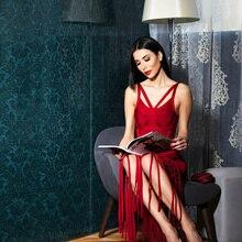 Горячие Luxe стиле с отверстиями, шлифованный клетке Ленточки украшенное платье Для женщин знаменитости Макси длинное облегающее платье+ костюм