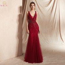 Винно красное платье для выпускного вечера роскошное Бисероплетение