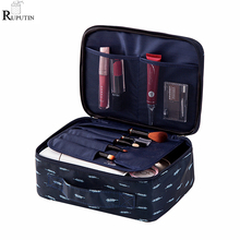 RUPUTIN New Women Makeup Bag Travel Cosmetic Organizer Storage Bags Portable Make Up Wash Pouch Female Storage Toiletry Kit Case travel cosmetic bag professional drawstring makeup case women make up handbag organizer storage pouch toiletry wash kit bags