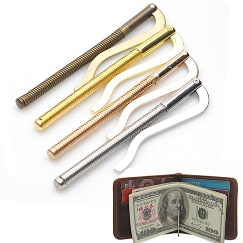 Metal plegable Clip de dinero de moda Simple abrazadera titular de efectivo hombres mujeres Bar cartera reemplazar piezas Clip de resorte de alta calidad