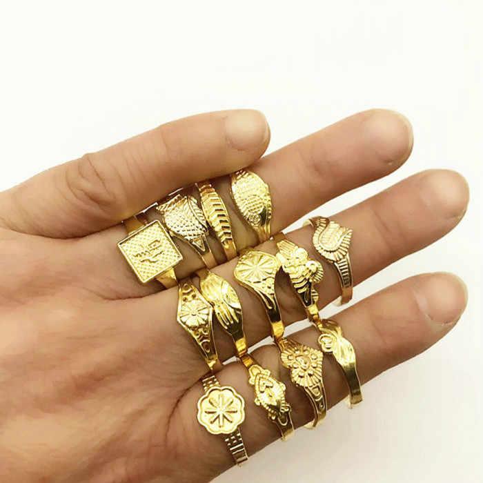 1 шт случайные унисекс красочные стальные розовое золото анти-аллергические кольца