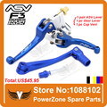 Alloy ASV Clutch  Brake Folding Lever Pack With Gear Lever + Cap Vent Fit Motorcycle BluDirt Pit Bike  Motorcross Free Shipping!