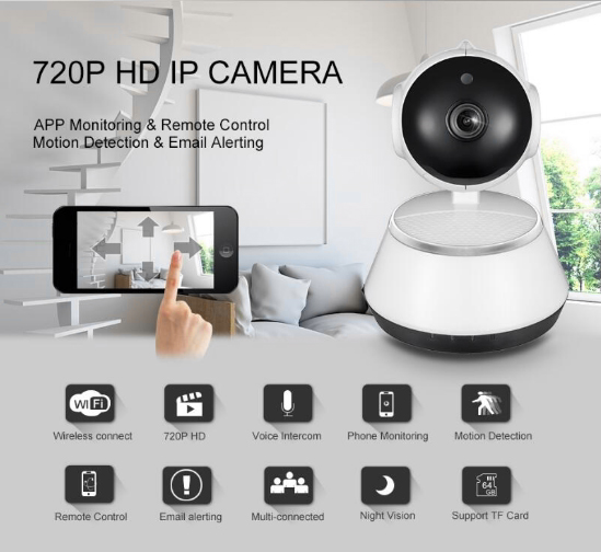 IP Camera Security Camera CCTV Wifi 720P Camera Led Light DVR Video Surveillance Camera Baby Monitor