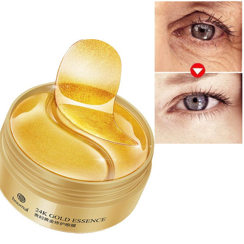 Collagen Eye Patches Korea Against Wrinkles Dark Circles Eyes Mask Gold Bags Ageless Hydrogel Sleep Gel Patch 60PCS For Women