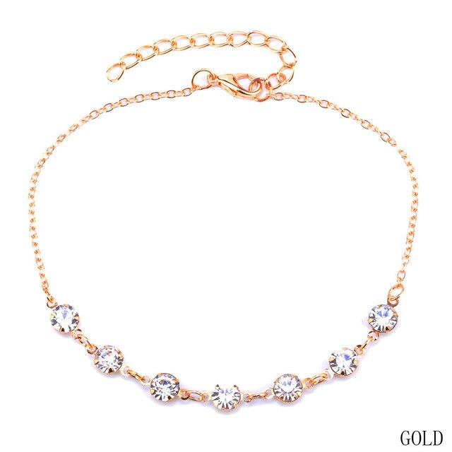 200480463c74 Moda Vintage cristal tobilleras para las mujeres Acero inoxidable calzado  bota cadena pulsera pie joyería