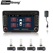 SilverStrong TPMS with USB Tire Alarm Auto Tire Pressure Monitoring System 4 Tire Sensors Temperature Alarm for Android Car DVD(Hong Kong,China)