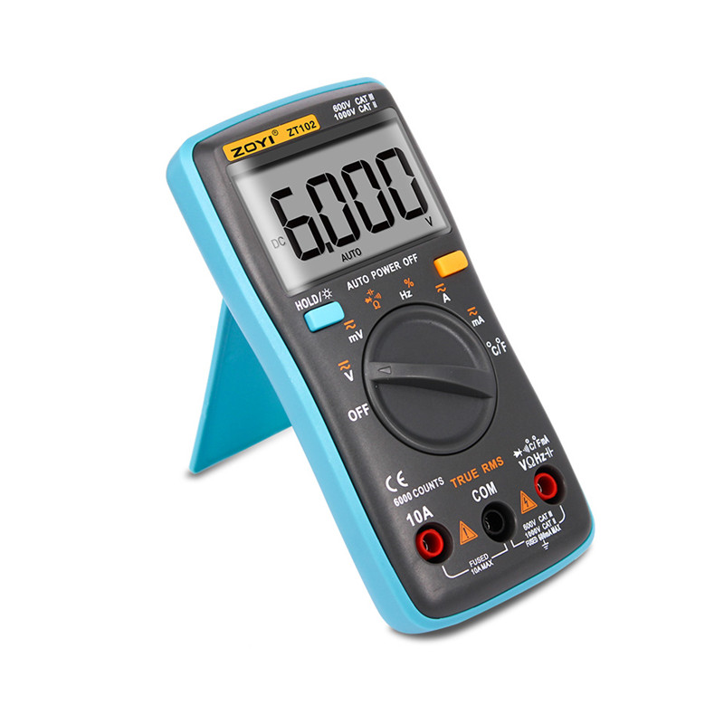 Image 2 - ZOYI ZT101 ZT102 Digital Auto Range Portable Multimeter 6000 counts Backlight Ammeter Voltmeter Ohm English/Russian user manual-in Multimeters from Tools