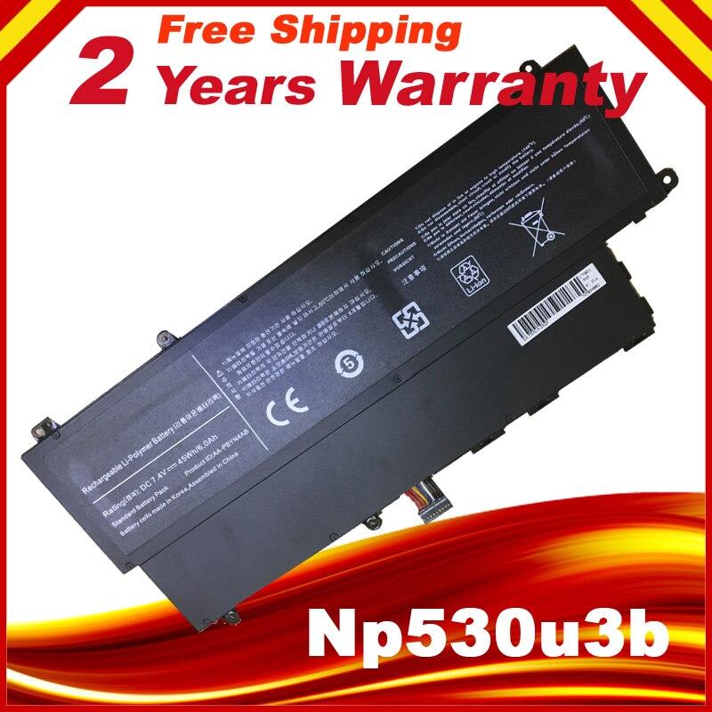 AA-PBYN4AB battery for Samsung Ultrabook 530U3B 530U3B-A01 530U3C 530U3C-A02 535U3C NP530U3C 535U3X 540U3C/U3B 7.4V 45WH us pink new laptop keyboard with touchpad palmrest for samsung 530u3c 535u3c 540u3c 532u3c 530u3b 532u3x english