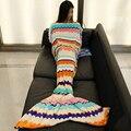 Cauda de sereia Cobertor Coral do Velo Cobertor Sereia Adulto Crianças Dormindo Cama Cobertor Lance Cama Envoltório Xadrez Super Macio