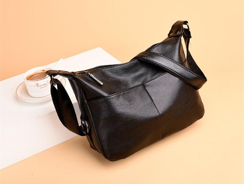 Women Travel Bag Waterproof Solid Color PU Leather Women Bag Casual Simple Women Shoulder Bag